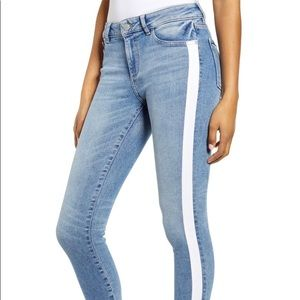 DL1961 Florence Mid Rise Skinny Cropped Sanders
